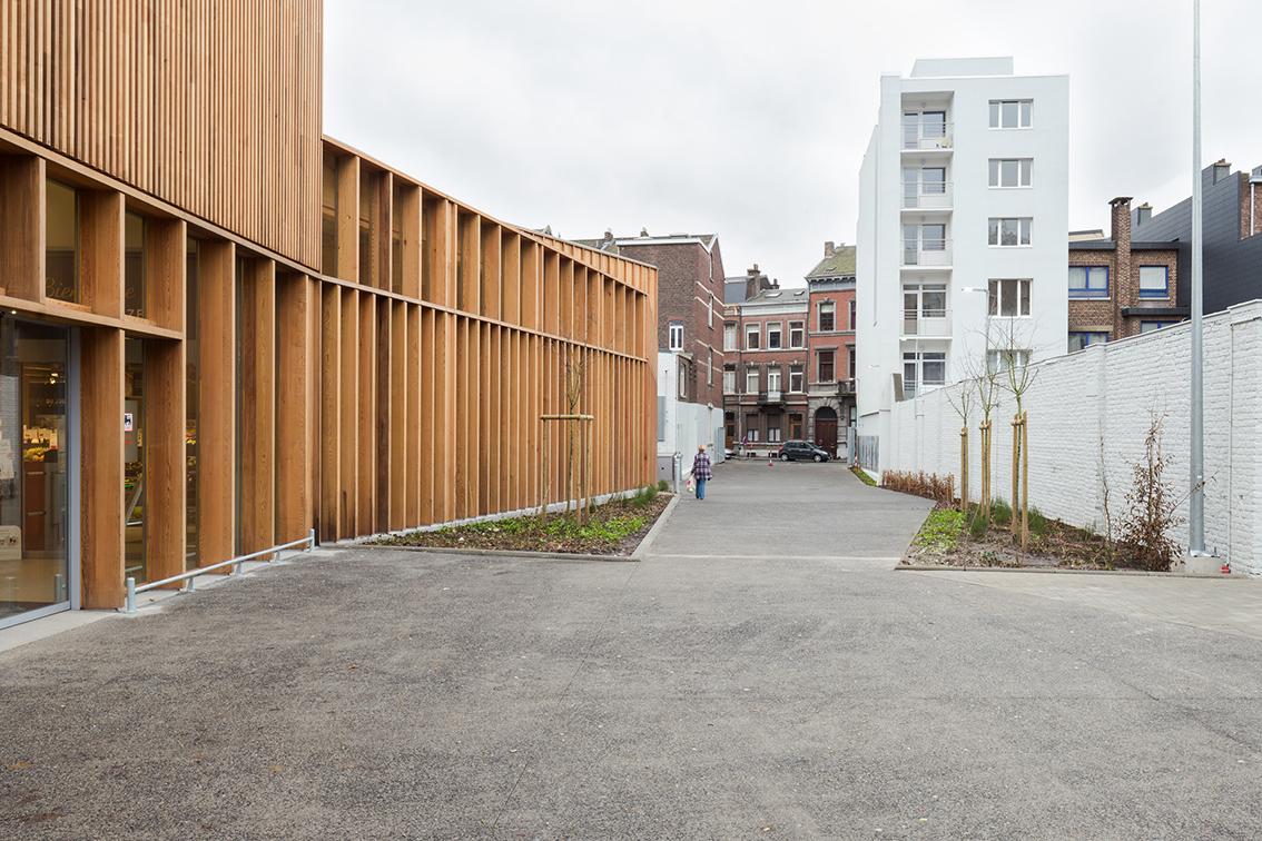 Projets delhaize quai de rome fab f d ration des for Architecte de jardin bruxelles