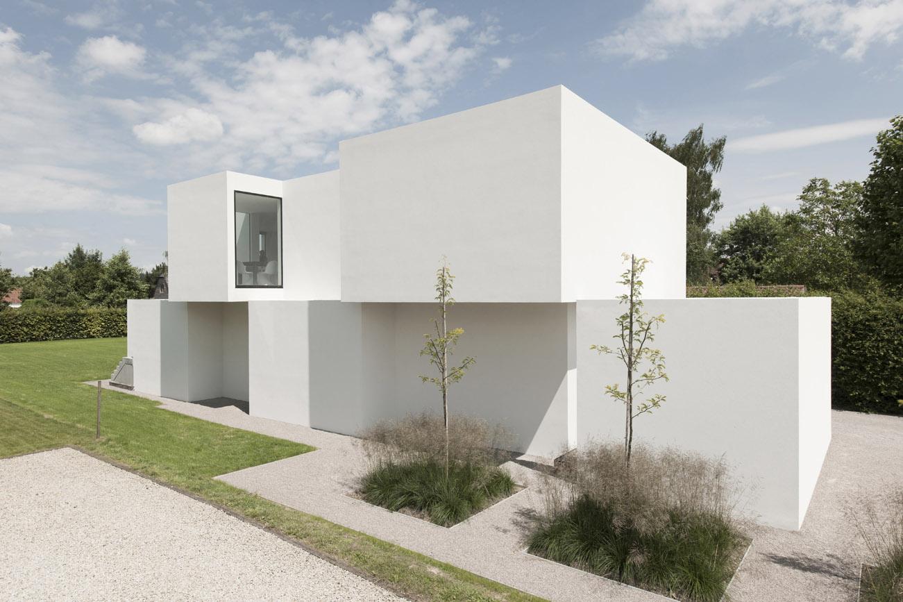 Projecten woning dz fab federatie van de architectenverenigingen van belg e for Afbeelding van moderne huizen